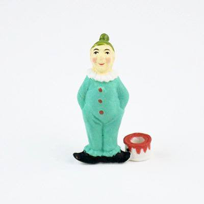 Image of Fun Circus Porcelain Candle Holder - Sparkle the Clown - Cece & Me - Home and Gifts
