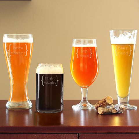 Specialty Beer Glasses (Set of 4) - Cece & Me - Home and Gifts