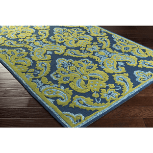 Spiby Rug ~ Dark Blue/Grass Green/Pale Blue/Lime - Cece & Me - Home and Gifts