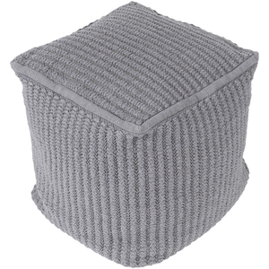Stafford Pouf ~ Medium Gray - Cece & Me - Home and Gifts