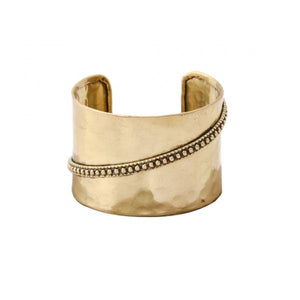 Statement Metal Cuff ~ Gold - Cece & Me - Home and Gifts