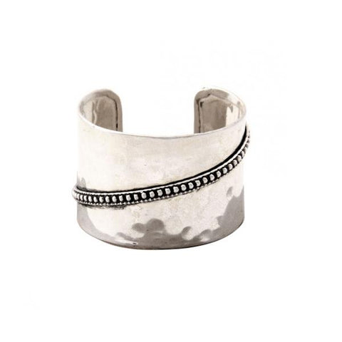 Statement Metal Cuff ~ Silver - Cece & Me - Home and Gifts