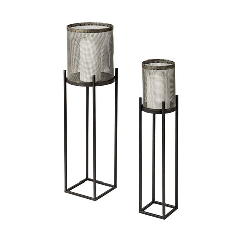 Steen Candle Holder (Set of 2) - Cece & Me - Home and Gifts