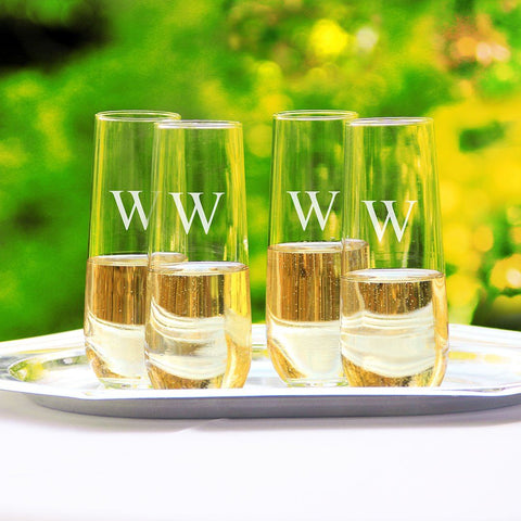 Image of Stemless Champagne Flutes (Set of 4) - Cece & Me - Home and Gifts