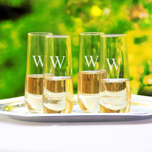 Stemless Champagne Flutes (Set of 4) - Cece & Me - Home and Gifts