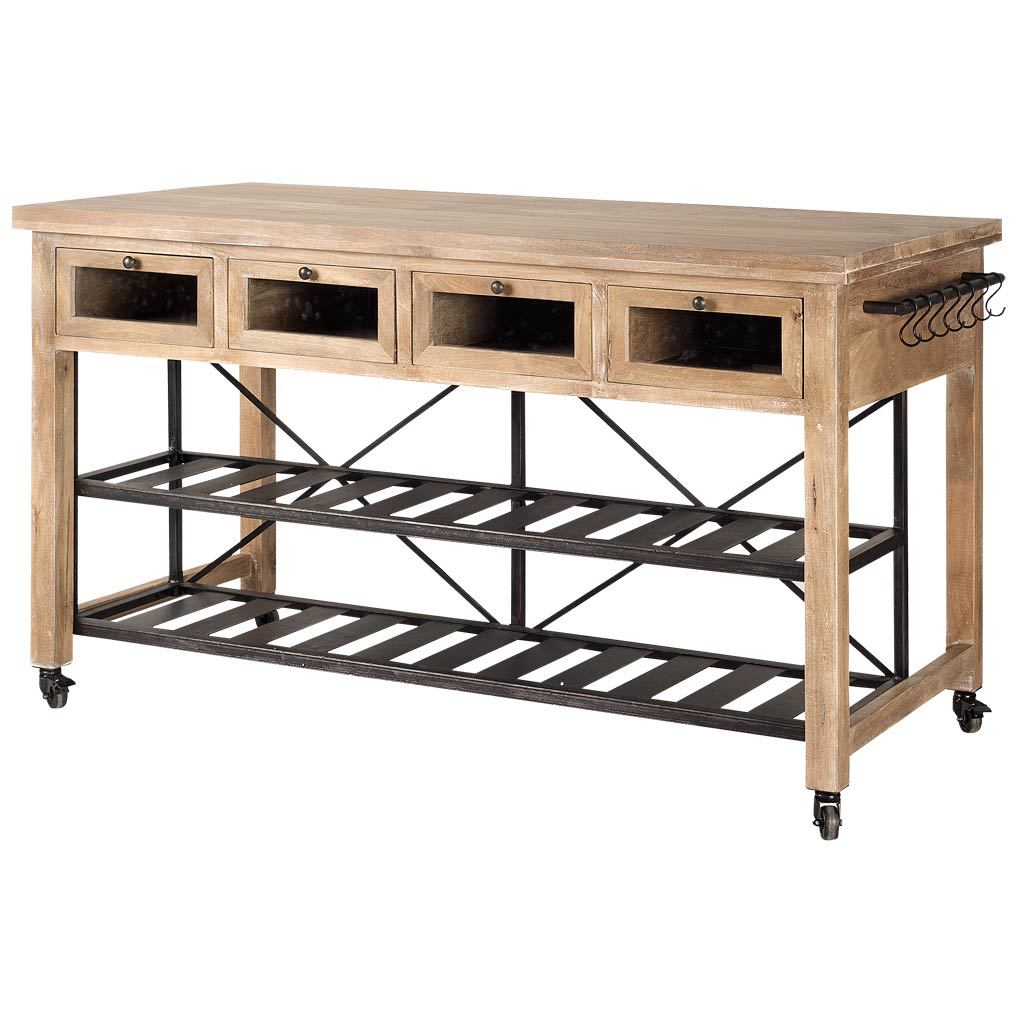 Stuart Rolling Kitchen Island - Cece & Me - Home and Gifts