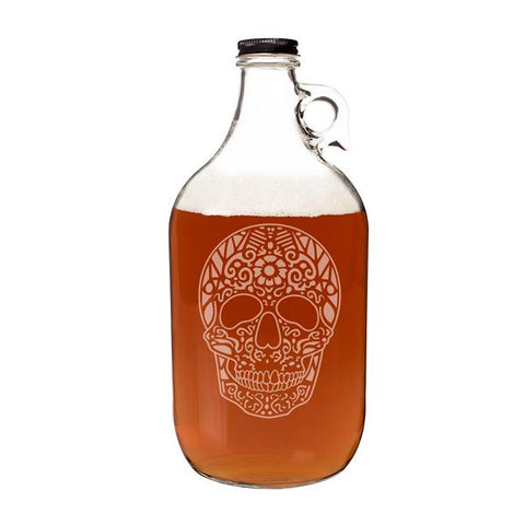 Sugar Skull 64 oz. Craft Beer Growler - Cece & Me - Home and Gifts