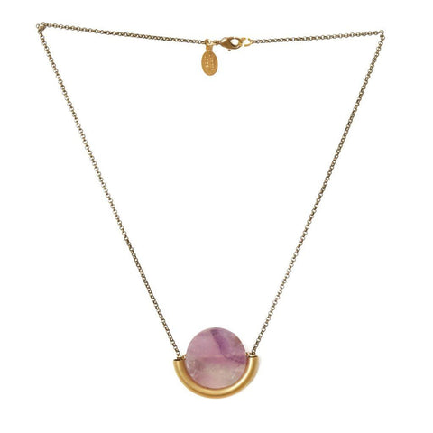 Sun & Moon Necklace ~ Amethyst - Cece & Me - Home and Gifts