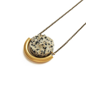 Sun & Moon Necklace ~ Dalmatian Jasper - Cece & Me - Home and Gifts