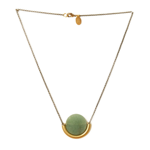 Sun & Moon Necklace ~ Green Aventurine - Cece & Me - Home and Gifts