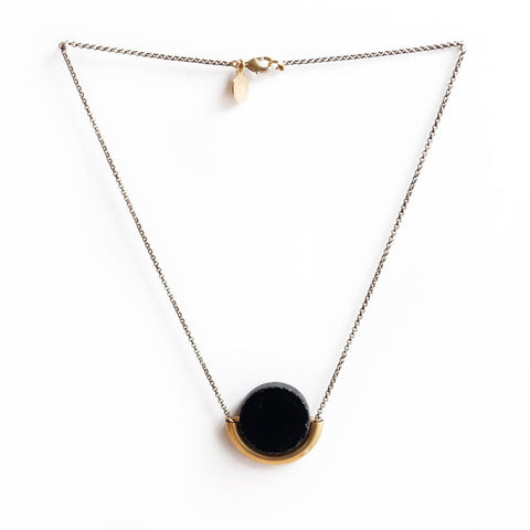 Sun & Moon Necklace ~ Onyx - Cece & Me - Home and Gifts