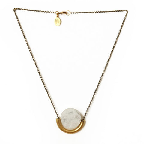 Image of Sun & Moon Necklace ~ Howlite - Cece & Me - Home and Gifts