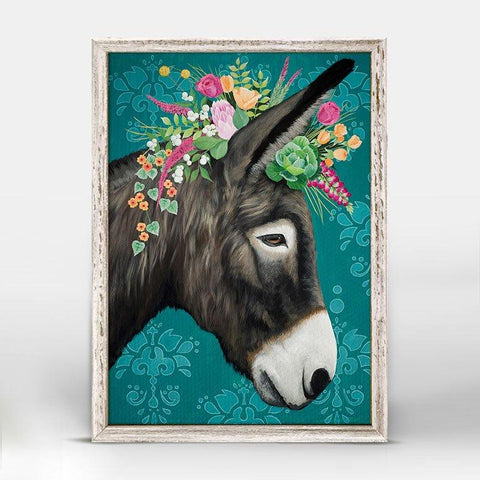Image of Sweet Donkey Mini Framed Canvas - Cece & Me - Home and Gifts