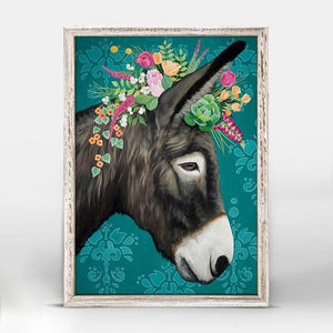 Sweet Donkey Mini Framed Canvas - Cece & Me - Home and Gifts