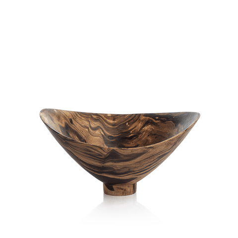 Mango Wood Marbleized Bowl - Footed Butterfly - Cece & Me - Home and Gifts