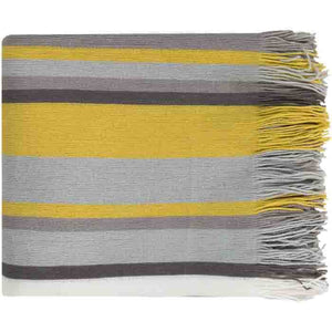 Topanga Throw ~ Bright Yellow/Gray - Cece & Me - Home and Gifts