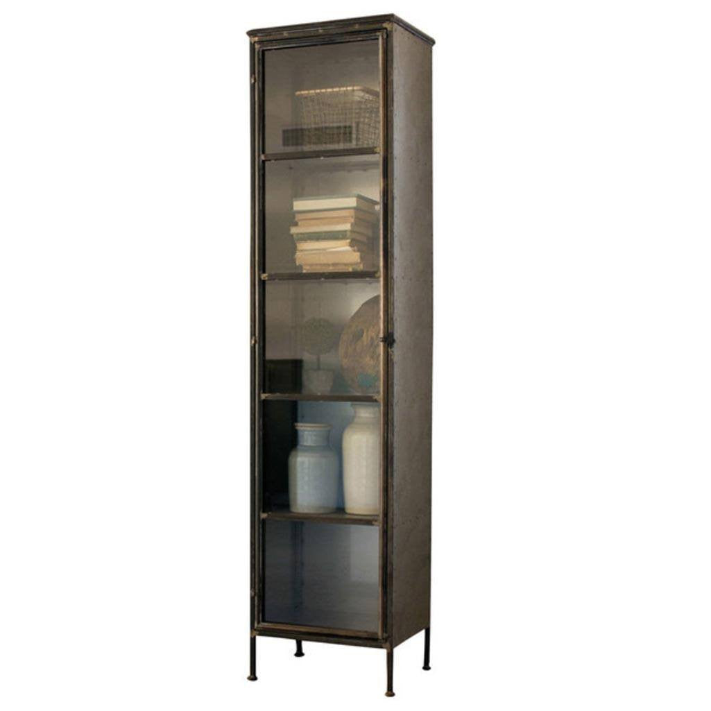 Tall Iron And Glass Apothecary Cabinet   Cece U0026 Me   Home And Gifts