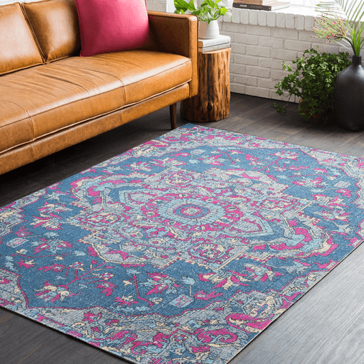 Tessera IIII Rug ~ Dark Blue/Bright Pink/Medium Gray - Cece & Me - Home and Gifts