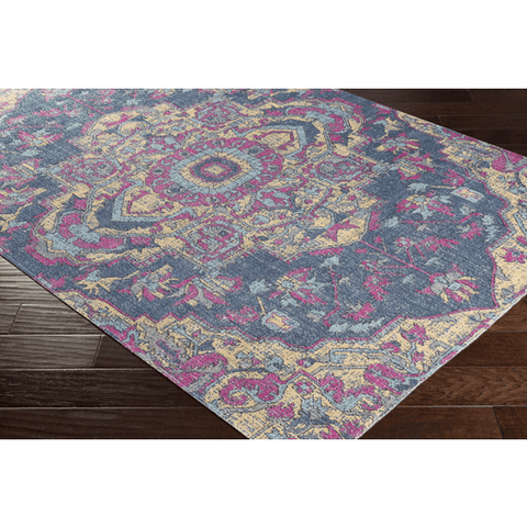 Tessera IIII Rug ~ Dark Blue/Bright Pink/Bright Yellow - Cece & Me - Home and Gifts