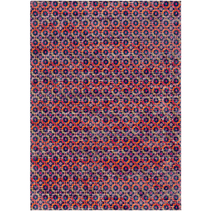Tessera Pattern I Rug ~ Garnet/Dark Blue - Cece & Me - Home and Gifts