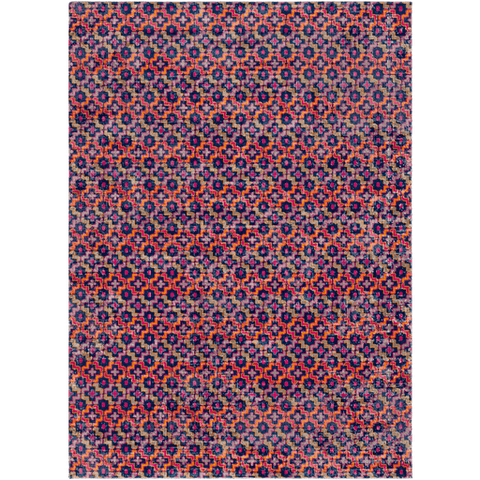 Image of Tessera Pattern I Rug ~ Garnet/Dark Blue - Cece & Me - Home and Gifts