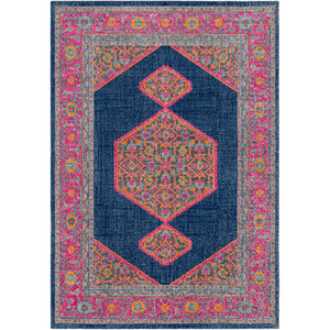 Tessera Rug ~ Dark Blue/Garnet - Cece & Me - Home and Gifts