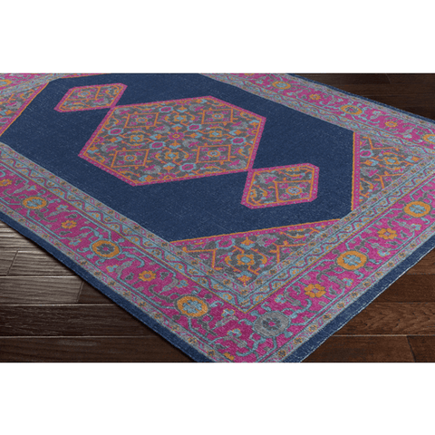 Image of Tessera Rug ~ Dark Blue/Garnet - Cece & Me - Home and Gifts