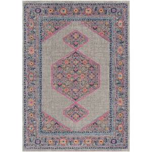 Tessera Rug ~ Light Gray/Garnet - Cece & Me - Home and Gifts
