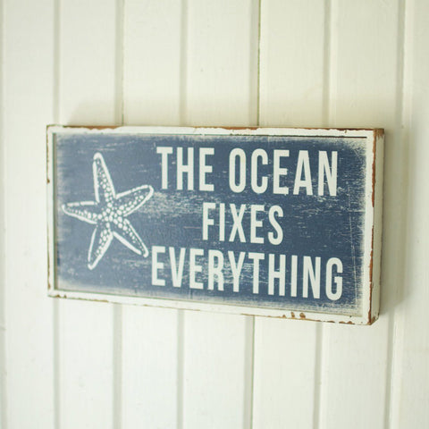 The Ocean Fixes Everything Sign - Cece & Me - Home and Gifts