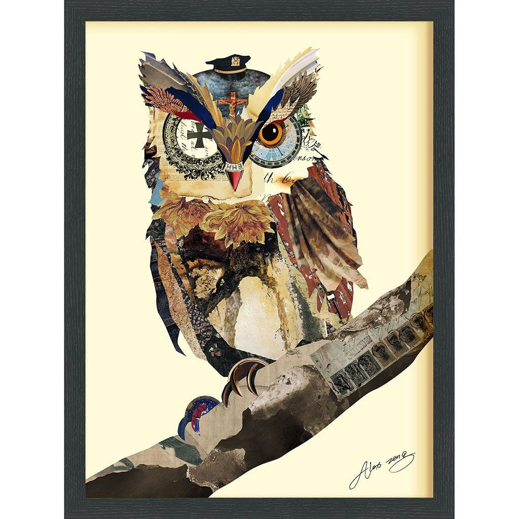 The Wisest Owl ~ Art Collage - Cece & Me - Home and Gifts