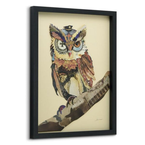 Image of The Wisest Owl ~ Art Collage - Cece & Me - Home and Gifts