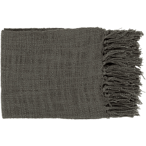 Tilda Throw ~ Charcoal - Cece & Me - Home and Gifts