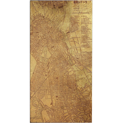 Image of Tinted Map of Boston - Cece & Me - Home and Gifts