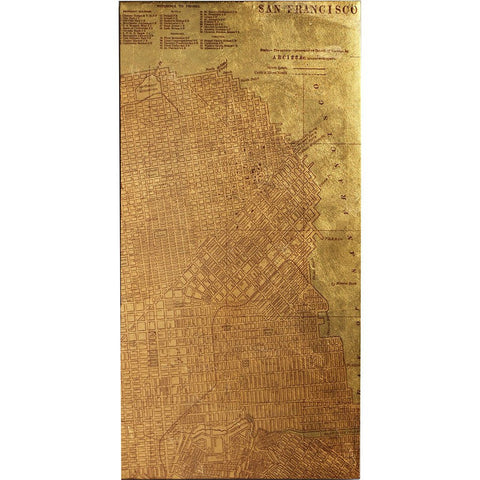Image of Tinted Map of San Francisco - Cece & Me - Home and Gifts