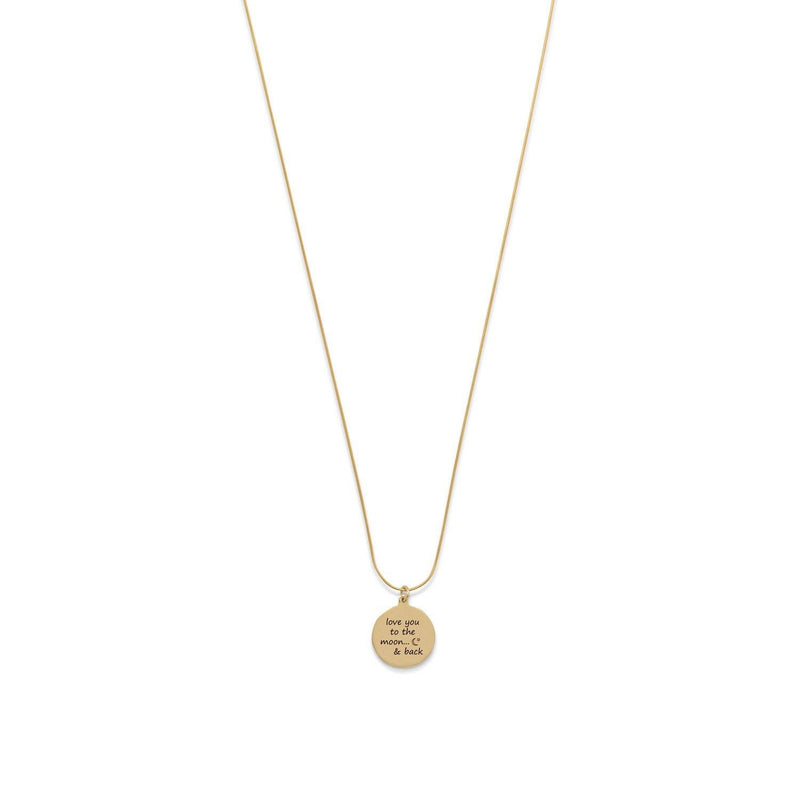 """Love You To The Moon And Back"" Necklace - 14 Karat Gold Plated - Cece & Me - Home and Gifts"