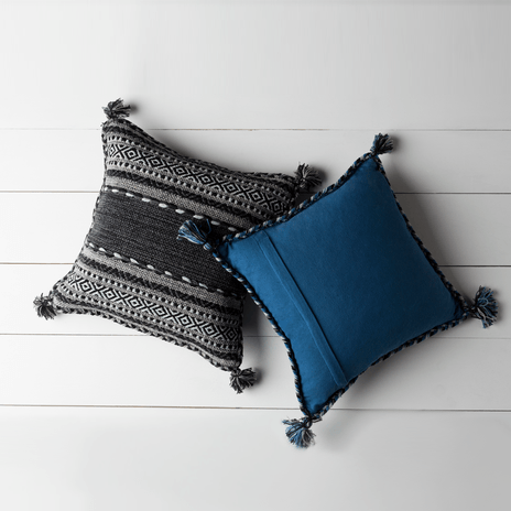 Trenza Pillow ~ Navy Blue - Cece & Me - Home and Gifts