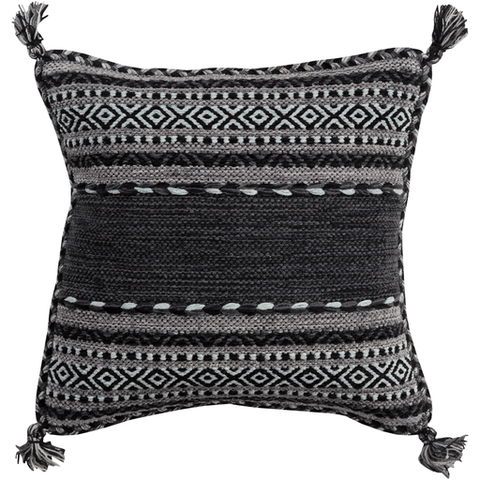 Image of Trenza Pillow ~ Charcoal - Cece & Me - Home and Gifts