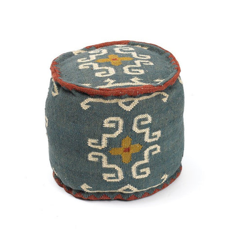 Tribal Kilim Pouf - Cece & Me - Home and Gifts