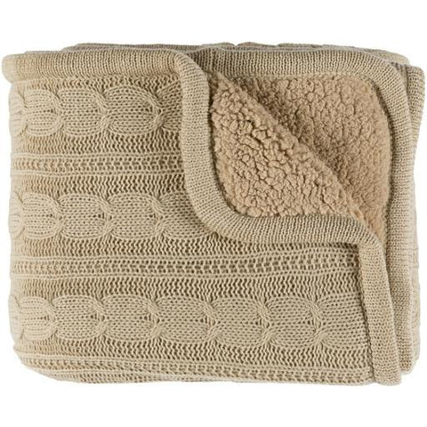 Image of Tucker Throw ~ Khaki - Cece & Me - Home and Gifts