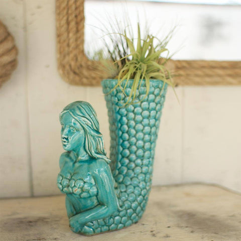Turquoise Ceramic Vase - Cece & Me - Home and Gifts