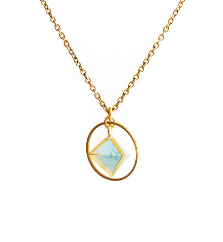 Turquoise Orb Necklace - Cece & Me - Home and Gifts