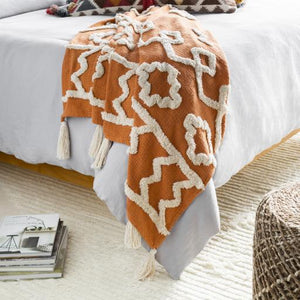 Tut Throw ~ Burnt Orange - Cece & Me - Home and Gifts