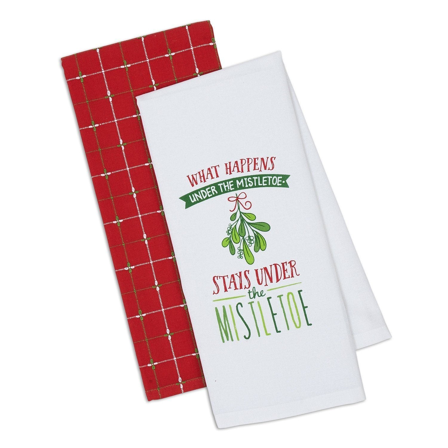 Under Mistletoe Dishtowel (Set of 2) - Cece & Me - Home and Gifts