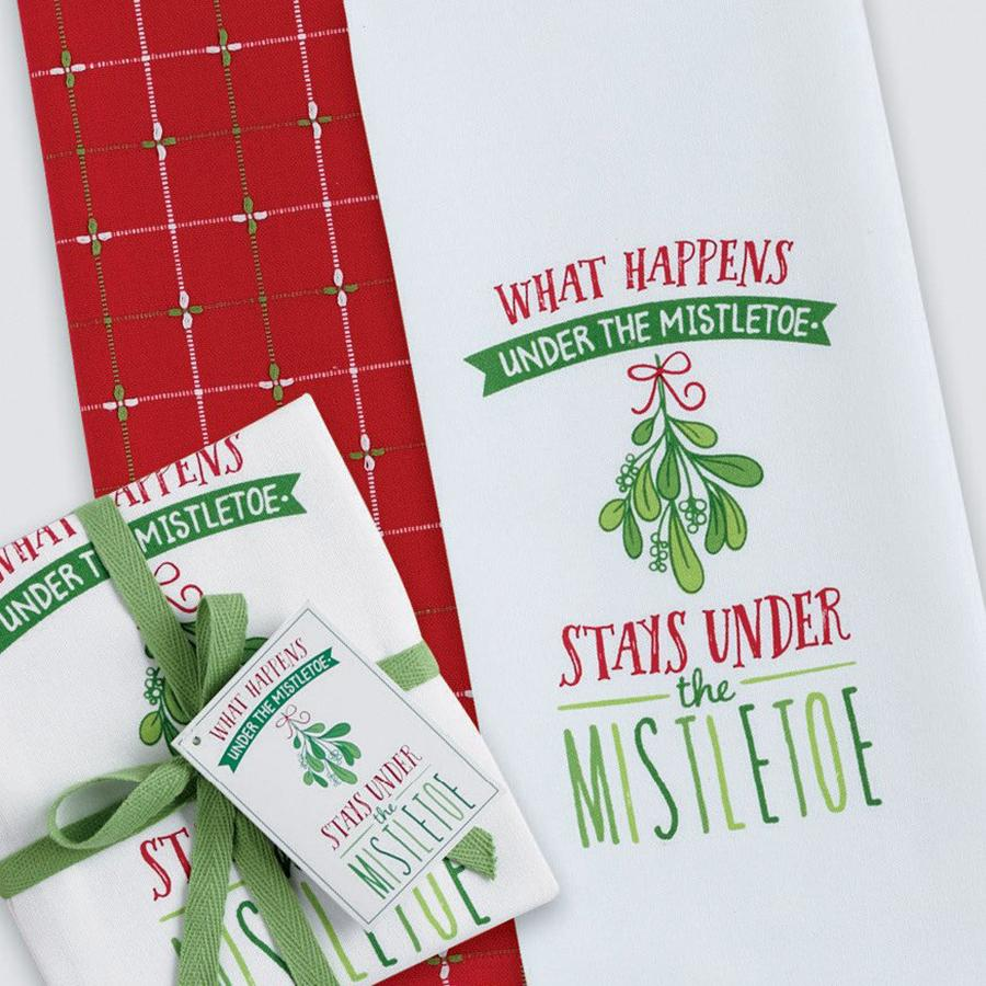 Under Mistletoe Dishtowel (Set of 2)
