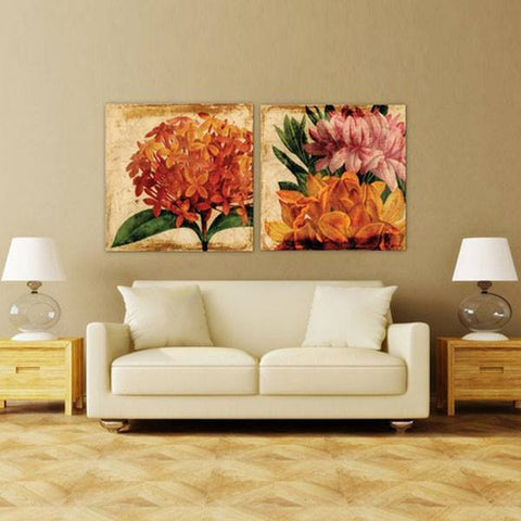 Vibrant Floral I ~ Tempered Art Glass - Cece & Me - Home and Gifts