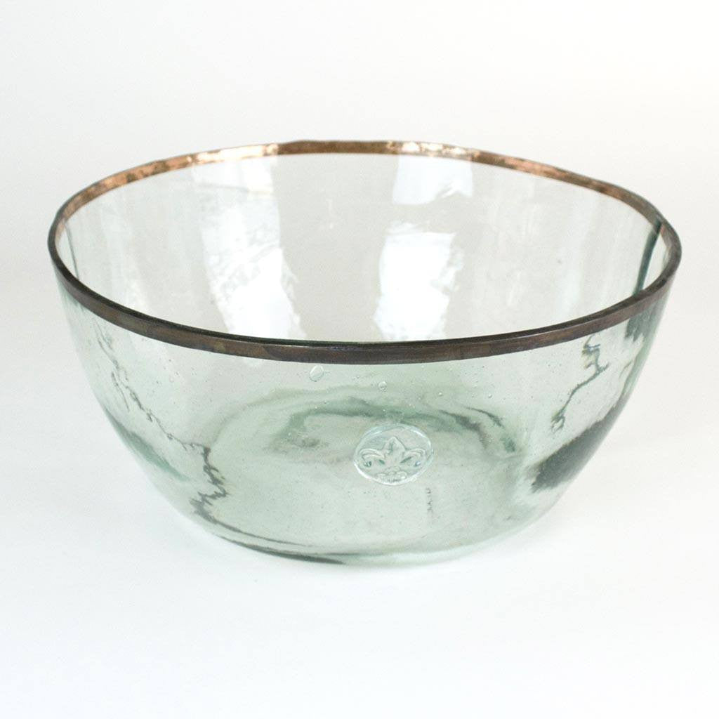 Vintage Balon Bowl Clear with Tin Rim - Cece & Me - Home and Gifts