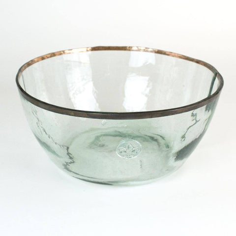 Image of Vintage Balon Bowl Clear with Tin Rim - Cece & Me - Home and Gifts