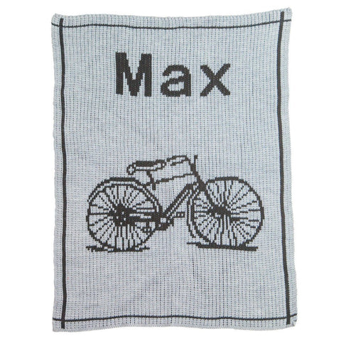 Personalized Vintage Bike Blanket - Cece & Me - Home and Gifts