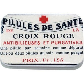 French Red Cross Pill Box, Treasure Box, Jewelry box, Card Case - Large - Cece & Me - Home and Gifts