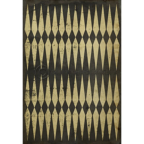 Vinyl Floorcloth ~ Backgammon - Cece & Me - Home and Gifts